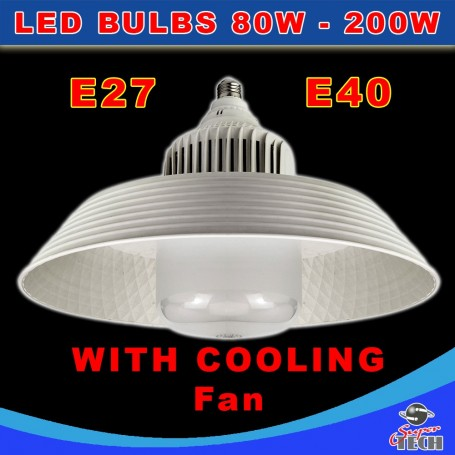 LED Bulbs 80W, Long life Bulb  with Cooling fan and Reflector Replacement GES/E27/E40 Cap 20000 Hrs