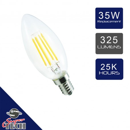 4W-E14-SES-Candle-Filament-LED-Light-Bulbs-Cool-White-6000K-CLEAR