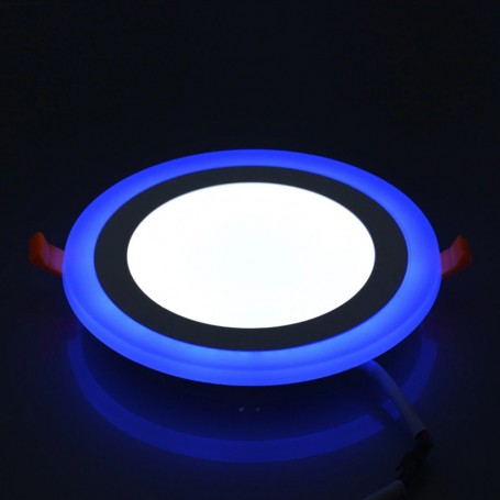 6/9/16&24W 3 mode Dual Colour White/Blue Round Recessed Ceiling Slim Led Panel