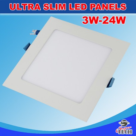 15W LED Recessed Square Ceiling Flat Panel Down Light Cool White With Driver