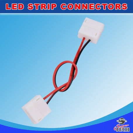 10mm 2 pins strip to strip with 15cm wire IP20 snap led strip connector