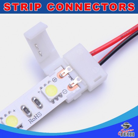 10mm  2pins strip to power connector IP20 snap led strip