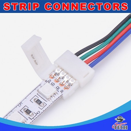 10mm 4pins RGB strip to power IP20 snap led strip connector